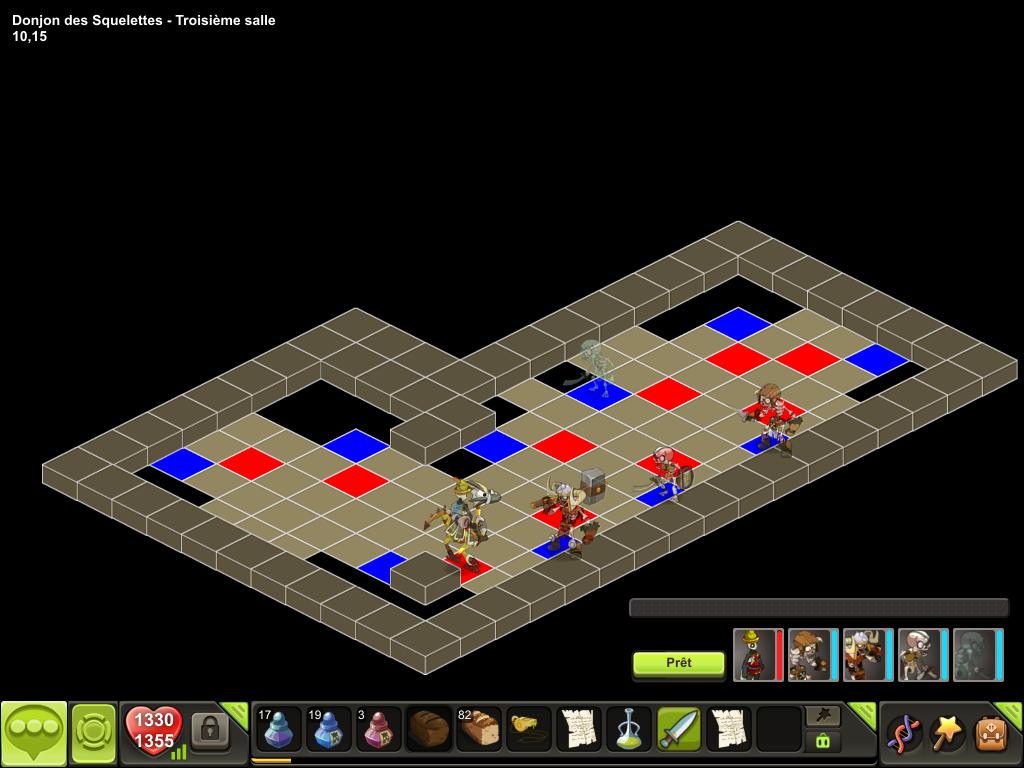 Donjon des Squelettes salle 3 tactique
