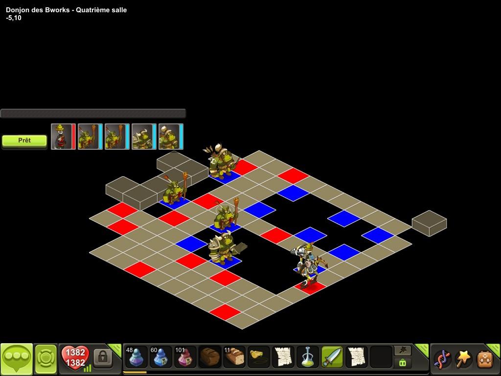 Donjon des Bworks salle 4 tactique