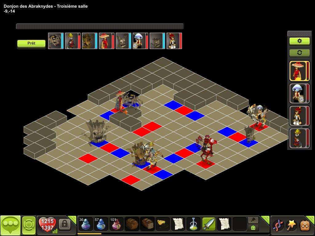 Donjon des Abraknydes salle 3 tactique