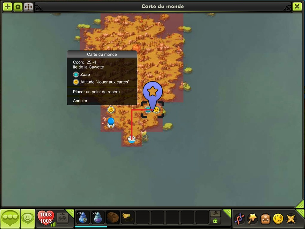 Aller sur l'île des Wabbits 4
