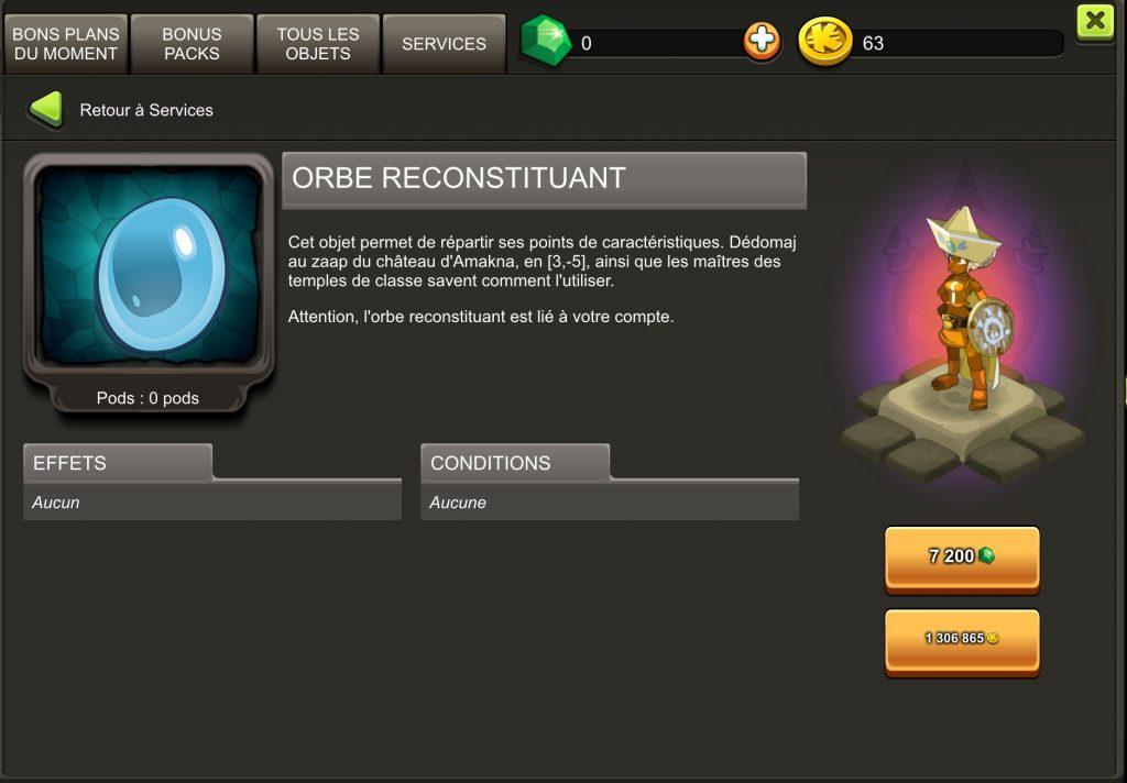 orbe reconstituant