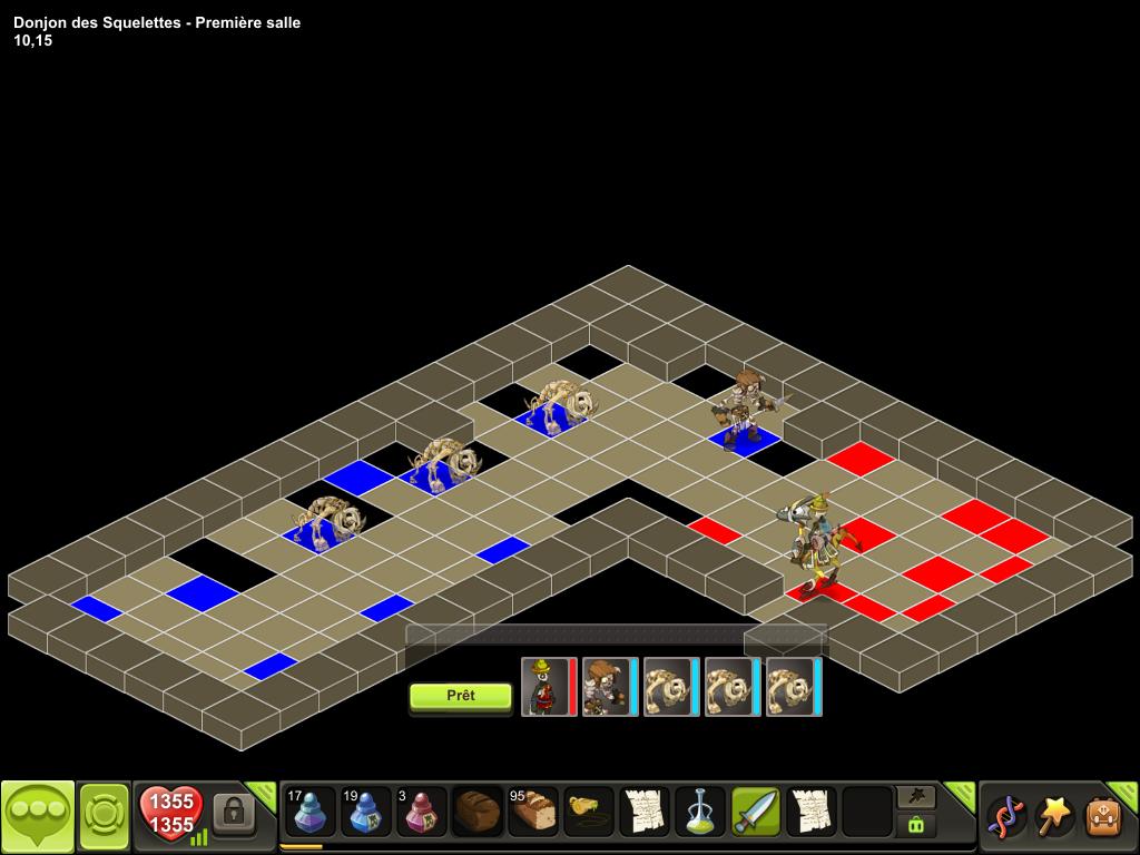 Donjon des Squelettes salle 1 tactique