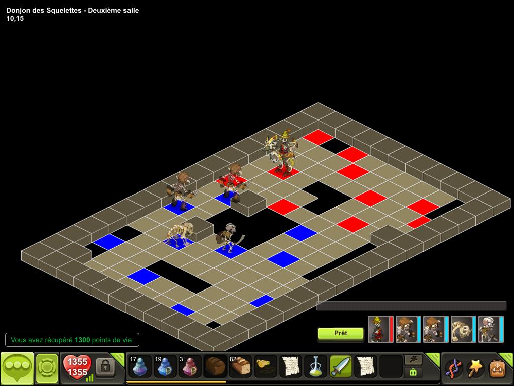 Donjon des Squelettes salle 2 tactique