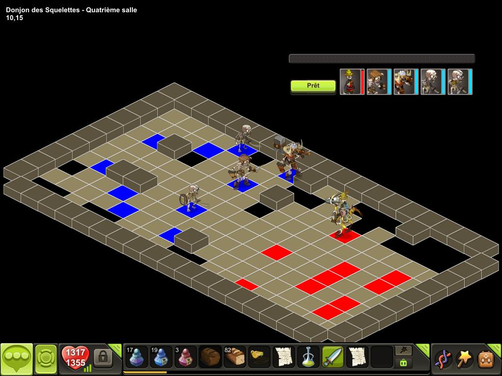 Donjon des Squelettes salle 4 tactique