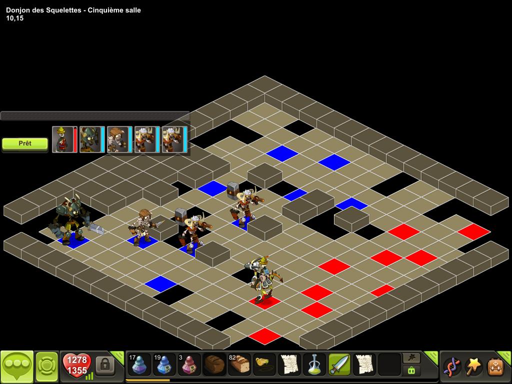 Donjon des Squelettes salle 5 tactique