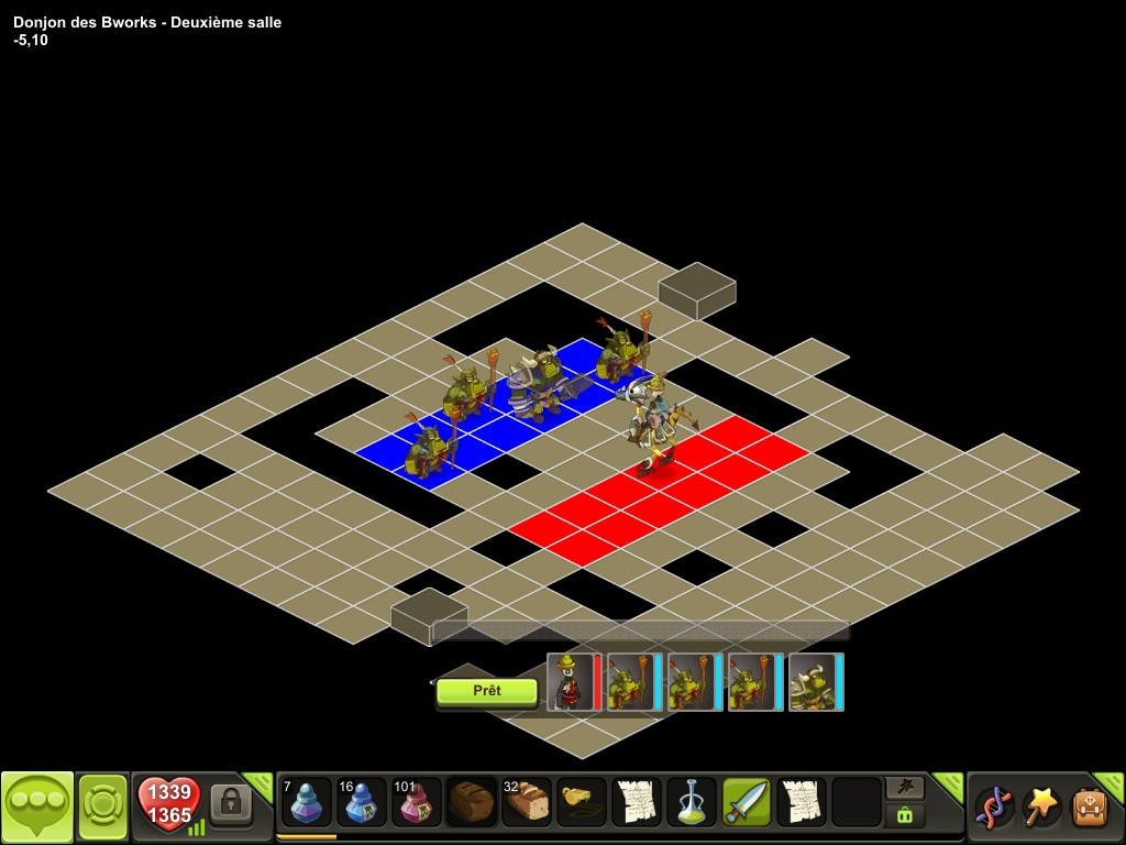 Donjon des Bworks salle 2 tactique