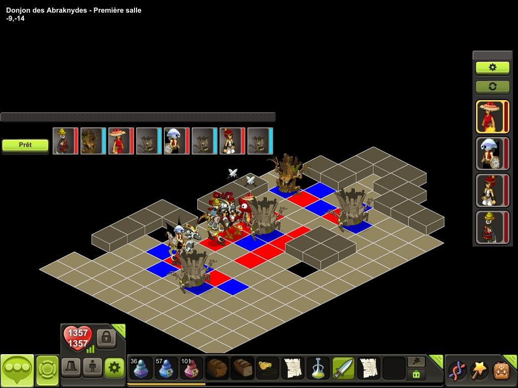 Donjon des Abraknydes salle 1 tactique