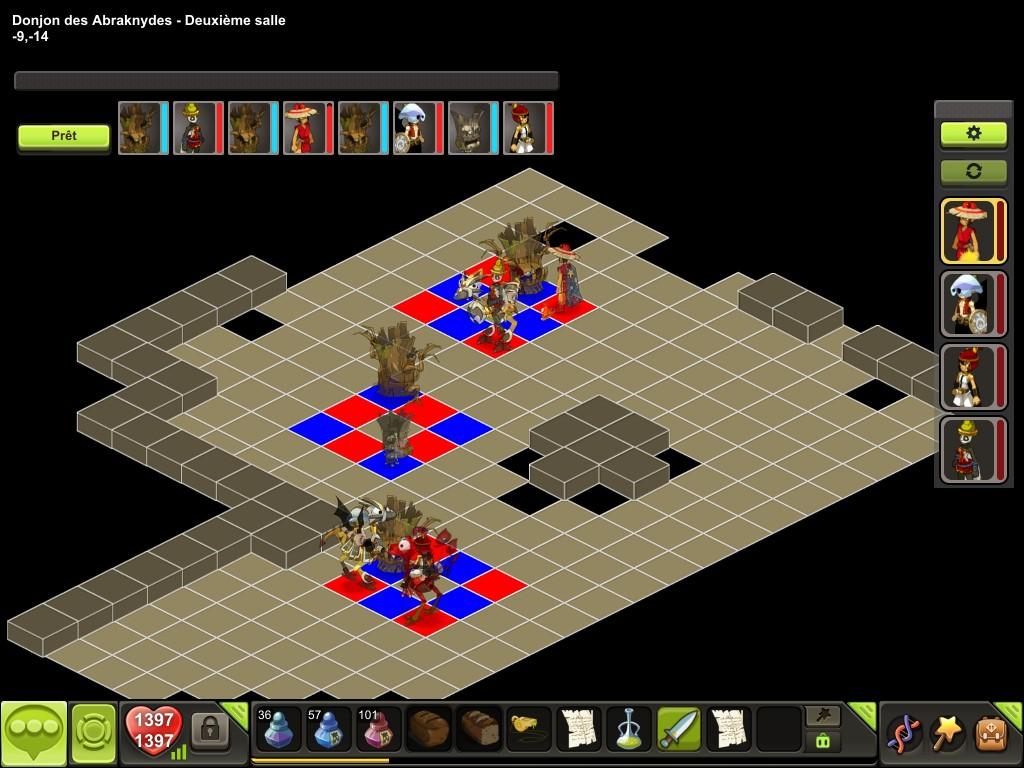 Donjon des Abraknydes salle 2 tactique