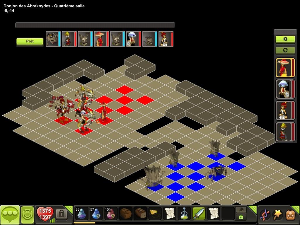 Donjon des Abraknydes salle 4 tactique