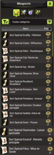 Guide des sorts spéciaux   dans DOFUS Touch